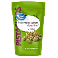 Great Value Roasted & Salted Pistachios, 24 Oz