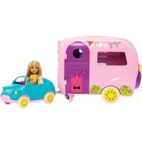 Barbie Club Chelsea Camper Playset with Doll & 10+ Themed Accessories