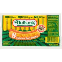 Nathan's Famous Bigger-Than-The-Bun Skinless Beef Franks - 8ct/16oz