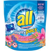 All Mighty Pacs Fresh Tropical Mist 24 Loads Laundry Detergent