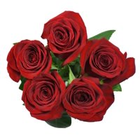 Roses, 5 Stems (color varies based on season and availability)