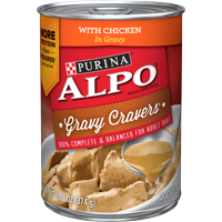 Purina ALPO Gravy Wet Dog Food, Gravy Cravers With Chicken, 13.2 oz. Can