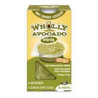 Wholly Guacamole Minis Chunky Avocado Mild, 6 count, 2 oz