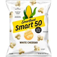 Smart50 Popcorn, White Cheddar, 6 oz Bag (Packaging May Vary)