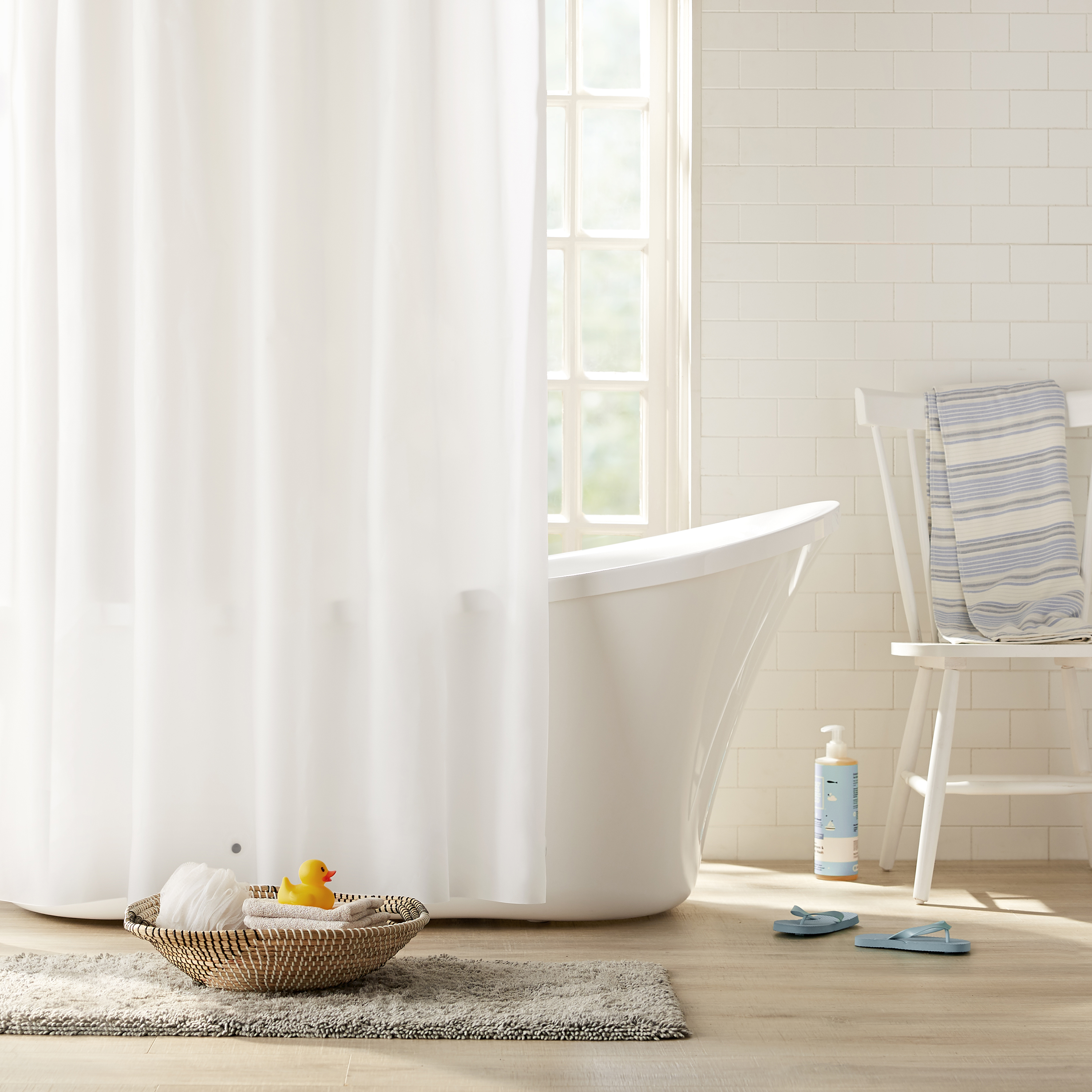Clorox PEVA Heavyweight Frosted Shower Curtain Liner, 72