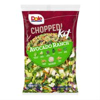 Dole Salad Kit, Chopped, Avocado Ranch