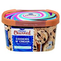 Kroger Deluxe Churned Light Ice Cream, Fun Munch Cookies N' Cream