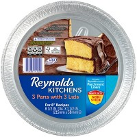 "Reynolds Disposable Bakeware Round Cake Pan With Lid 8"" - 3ct"