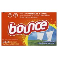Bounce Fabric Softener Sheets, Outdoor Fresh, 240 Count