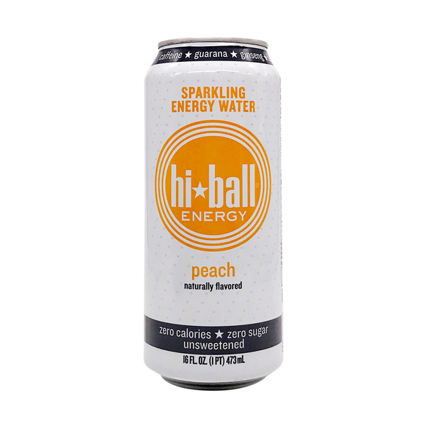 Hiball energy Peach Sparkling Energy Water, 16 fl oz