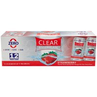 Clear American Strawberry Sparkling Water, 12 fl oz, 12 Count