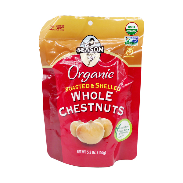 Season brand Organic Rstd & Shelled Whole Chestnuts, 5.3 oz