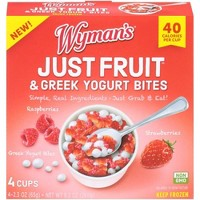Wyman's Just Fruit Raspberries & Strawberries with Greek Yogurt Bites - 4ct/9.2oz