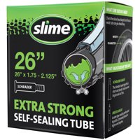 Slime Self-Sealing Smart Replacement Bike/Bicycle Inner Tube, Schrader 26'x1.75-2.125' - 30045