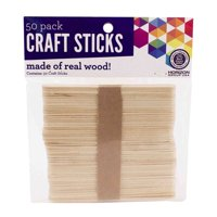 Horizon Group USA Wood Craft Sticks, 50 Piece