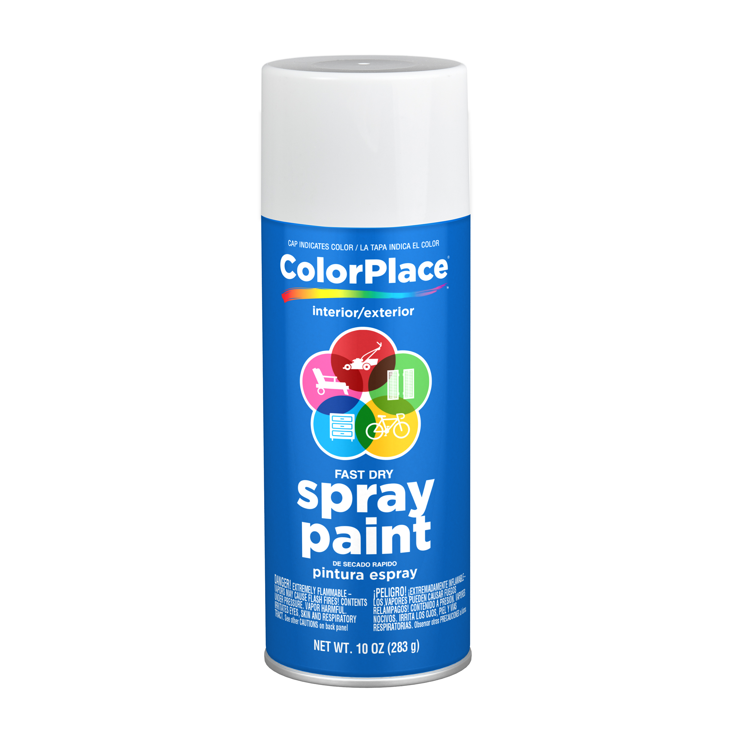 White, ColorPlace Gloss Spray Paint