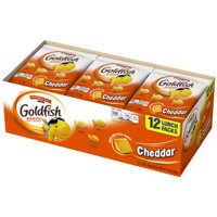Pepperidge Farm Goldfish Cheddar Crackers, 12 oz. Multi-pack Tray, 12-count 1 oz. Single-Serve Snack Packs