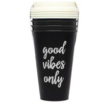 Aladdin 16 pack Reusable Coffee Cups, 16 oz, Black 4-pack