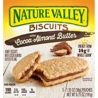Nature Valley Biscuits, Cocoa Almond Butter, Breakfast Biscuits with Nut Filling