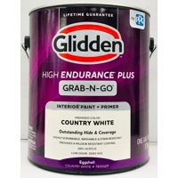 Glidden High Endurance Plus Grab-N-Go Eggshell Interior Paint & Primer, Country White, 1 Gallon