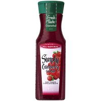 Simply Cranberry Cocktail Fruit Juice