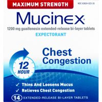 Mucinex Maximum Strength 12 Hour Chest Congestion Extended Release Bi-Layer Tablets