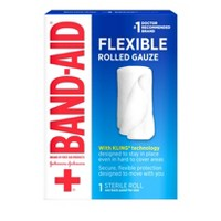 Band Aid Brand First Aid Product Flexible Rolled Gauze - 2in x 2.5yd