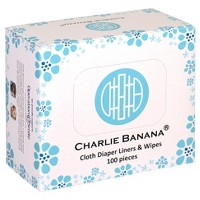 Charlie Banana Diaper Liners for Reusable Diapers - 100ct