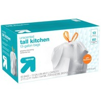 FlexGuard Tall Kitchen Drawstring Trash Bags - Unscented - 13 Gallon - 60ct - Up&Up™
