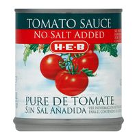 H-e-b No Salt Added Tomato Sauce