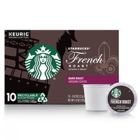 Starbucks Dark Roast K-Cup Coffee Pods — French Roast for Keurig Brewers