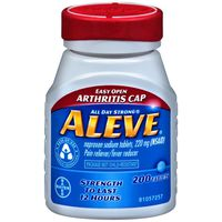 Aleve Easy Open Arthritis Cap Naproxen Sodium 220mg Tablets Pain Reliever/Fever Reducer