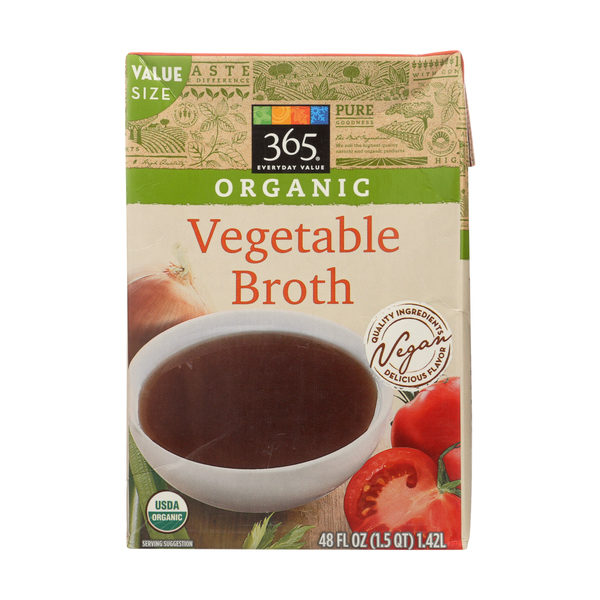 365 everyday value® Organic Vegetable Broth, 48 Fl. Oz.