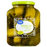 Great Value Whole Dill Pickles, 46 oz