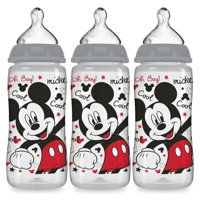 NUK Smooth Flow Disney Bottle, Mickey Mouse, 10 oz, 3-Pack