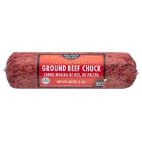 All Natural* 80% Lean/20% Fat Ground Beef Chuck Roll, 3 lb