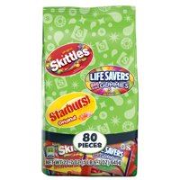 Skittles, Starburst & Life Savers Fruity Candy, Fun Size Variety Mix Bag, 22.7-Ounce, 80 Pieces