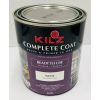 KILZ Complete Satin Coat Paint & Primer In One, White, 1 Gallon