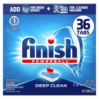 Finish All in 1 Powerball 36ct, Deep Clean, Fresh Scent, Dishwasher Detergent Tablets