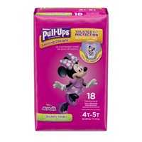 Pull-Ups Girls' Learning Designs Training Pants, Size 4T-5T (38-50 lb.), 18 Ct.