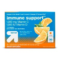 Vitamin C + D Immune Support Powder - Orange - 30ct - Up&Up™