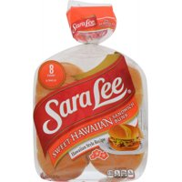 Sara Lee Sweet Hawaiian Sandwich Buns, 8 count, 18 oz