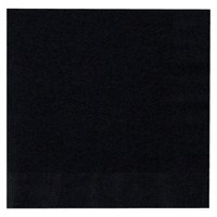 50ct Black Lunch Napkin