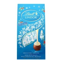 Lindt Holiday Milk and White Chocolate Snowmen Bag - 6oz