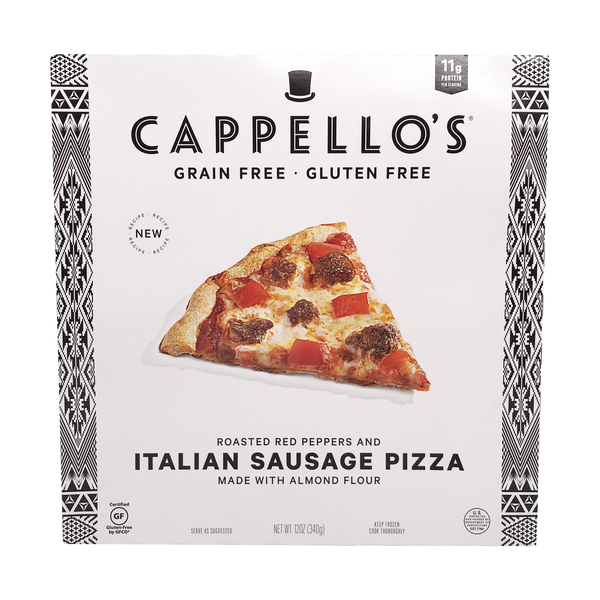 Cappello's Roasted Red Peppers And Italian Sausage Pizza, 12 oz