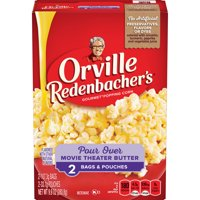 Orville Redenbacher's Movie Theater Butter Microwave Popcorn with Pour Over Butter, 2.19 Oz, 2 Ct