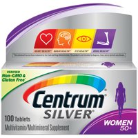 Centrum Silver Multivitamins for Women Over 50, Multivitamin/Multimineral Supplement with Vitamin D3, B Vitamins, Calcium and Antioxidants - 100 Count