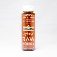 Jamie's Hive to Table Raw Honey, 100% PURE, Nature-Made Honey with No Fillers, Infused Vanilla, 12 Oz. Bottle