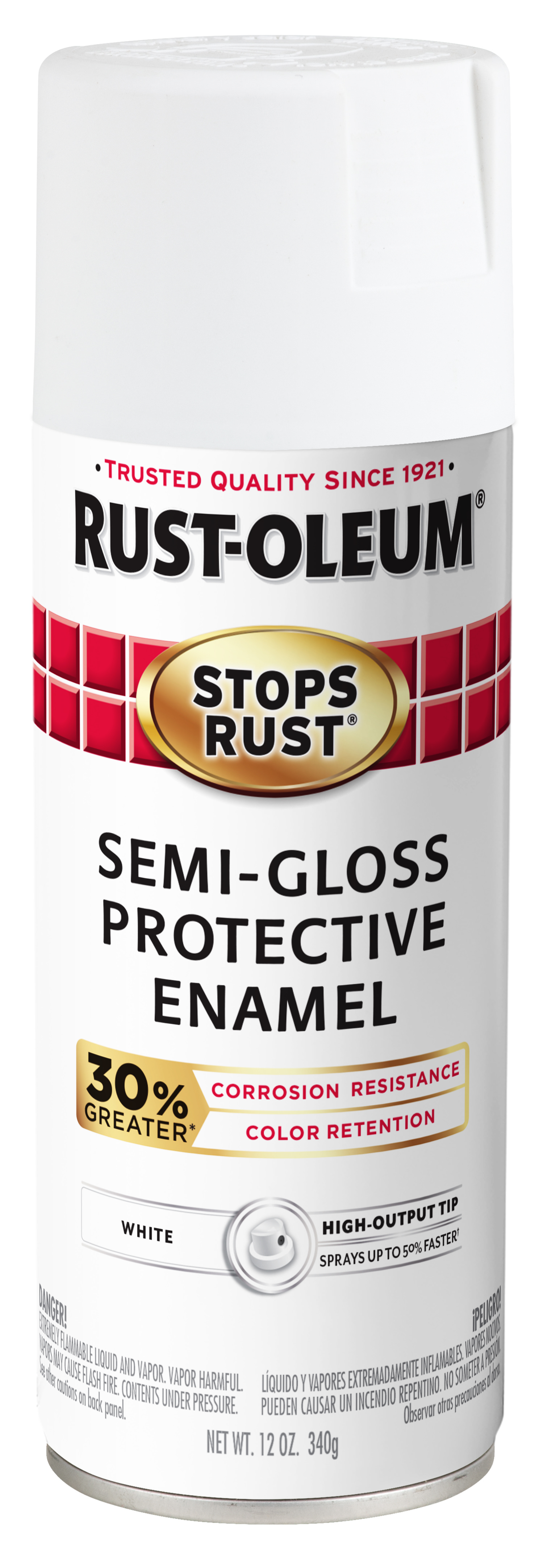 (3 Pack) Rust-Oleum Stops Rust Advanced Semi-Gloss White Protective Enamel Spray Paint, 12 oz