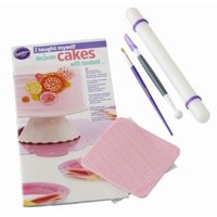 "Wilton ""I Taught Myself To Decorate Cakes With Fondant"" Book Set - Fondant Cutter and Tools"